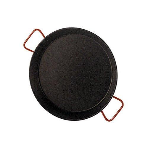 Garcima 5020500 Paellera Valenciana Antiadherente para 4 Personas 30 cm, Acero, Negro/Rojo