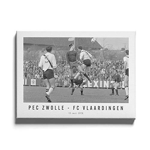 PEC Zwolle - FC Vlaardingen 78 - Walljar - Muurdecoratie - Schilderij - Canvas