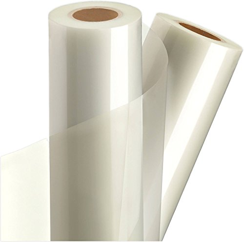 """Clear Vinyl Self-Adhesive Laminate 12"""" x 15FT Roll, for Cricut, Silhouette Cameo Portrait, Decals, Stickers, Stencils, Peel and Stick by Turner Moore Edition (Clear Laminate Sticker Vinyl, Glossy)"""
