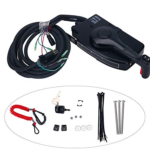 Amarine Made 881170A15 Boat Motor Side Mount Remote Control Box with 8 Pin for Mercury Outboard Engine