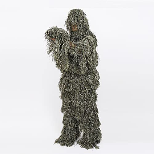 Culpeo Ghillie Suit - Woodland Camouflage Ghillie Suit for Outdoor Sport - Camouflage Hunting Suit Gifts for Father Men, Hunters, Military, Sniper Airsoft and Paintball