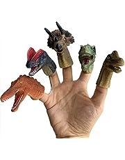 Manekiny ze zwierzęcymi palcami, 5 sztuk gumowych, realistyczne dinozaury, zestaw do zabawy w rolce, zabawka dla dzieci, prezent urodzinowy, odpowiednia zabawka dla dzieci i dorosłych