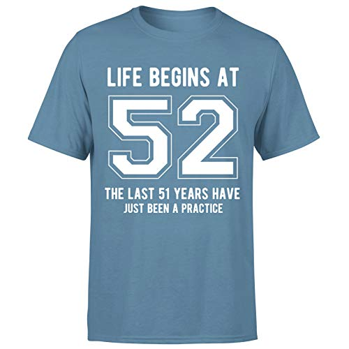 Life Begins at 52 Years Birthday Gift for Him - Camiseta de regalo para hombre