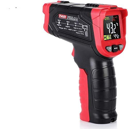 Akozon Termómetro infrarrojo, TA601B Termómetro láser Digital Rango de Pistola infrarroja LCD retroiluminado para Temperatura Interna del Horno de leña de Cocina(-50°C a 680°C / -58 ℉ ~ 1056 ℉)