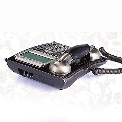 Landline Phones Antique Retro Landline Phones Corded Business Office High-end Fixed Telephone (caller ID) Size: 21.4x17.6x8.8cm ( Color : Black ) Best Gift & Decor ( Color : Black , Size : Free size )