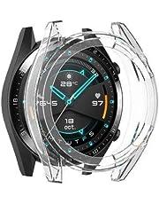 Microcase Huawei Watch GT2 46 mm Önü Açık Tasarım Silikon Kılıf - Şeffaf