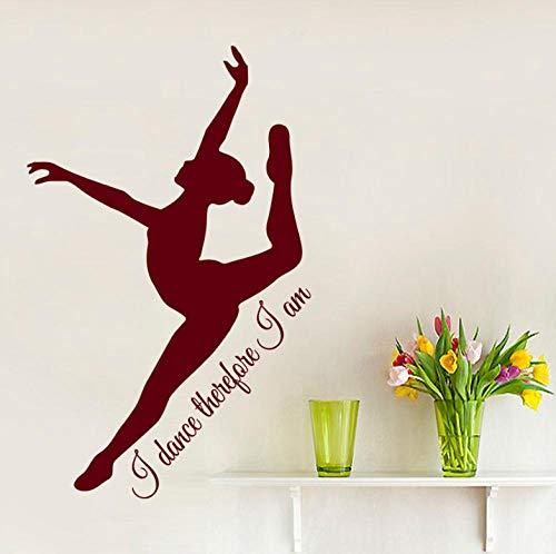 Muursticker 42 x 70 cm ballerina sticker afneembare pvc decoratie moderne waterdichte zelfklevende kunst creatieve DIY