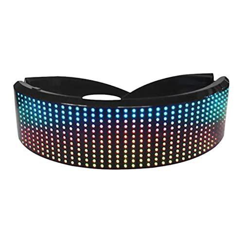 ZHOUSAN LED Bluetooth Gafas LED Pantalla a todo color Gafas inteligentes con APP Control conectado para Bar KTV Navidad fiesta de cumpleaños