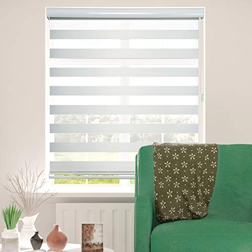 ShadesU Zebra Dual Layer Roller Sheer Shades Blinds Light Filtering