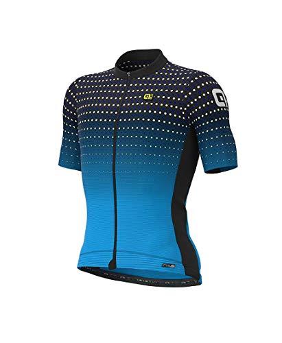 Ale Abbigliamento Ciclismo Uomo Maglia Bullet Road MTB (2XL, Nero-Aqua)