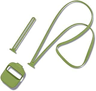 Airpods Silicone Protective Case With Anti-lost Neck Strap & Wrist Lanyard - Army Green