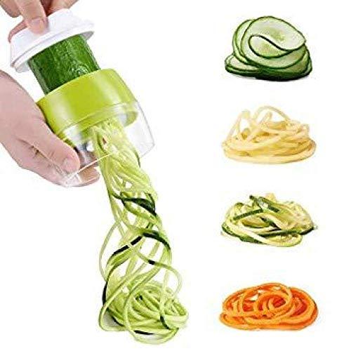 BBGSFDC Fruit de Coupe rotative légume nouille portatif trancheuse râpe Spirale légume Salade broyeur déchiqueteur Concombre Carotte