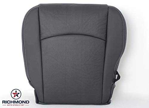 Richmond Auto Upholstery - Driver Side Bottom Replacement Leather Seat Cover (Perforated) Dark Gray (Compatible with 2009-2012 Dodge Ram 1500, 2500, 3500) (Dark Slate)