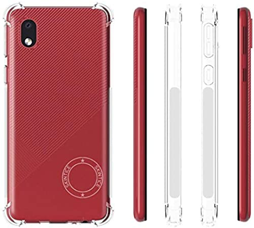 Skintice Anti Drop Shockproof With Bumper Corners With Air Cushion Technology TPU Back Cover Case For Samsung Galaxy M01 Core August Launch Corner TPU