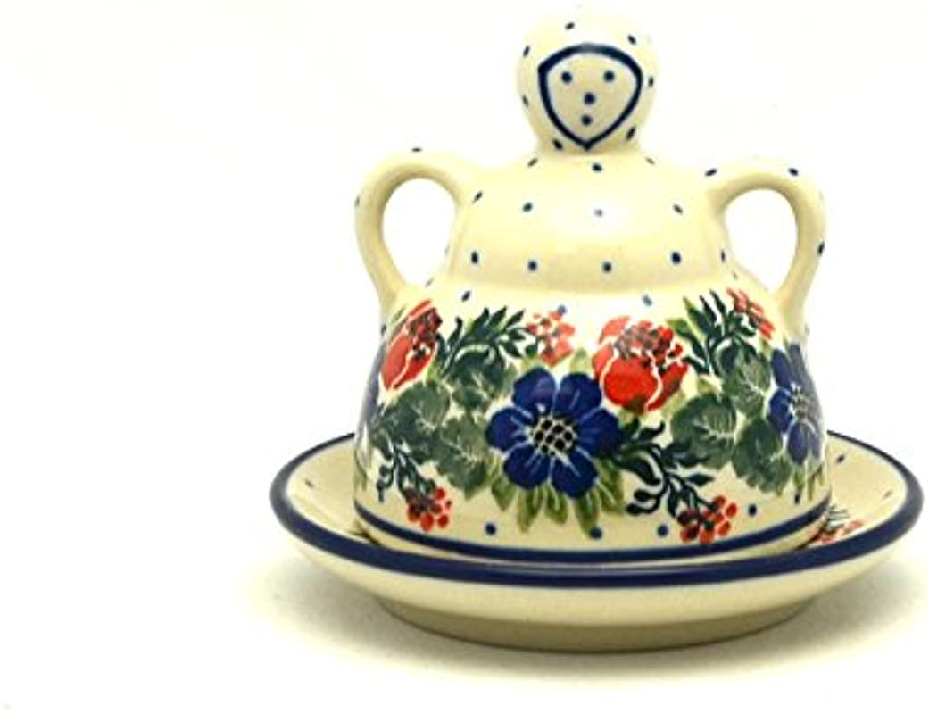 Polish Pottery Cheese Lady Miniature Garden Party