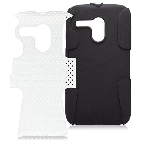 iCues LG G2 Mini   2 Part Air Case Weiss   [Display Schutzfolie Inklusive] Outdoor Dickes Hardcase Stoßfest Militär Lifeproof Männer Jungs Schutzhülle Hülle Cover Schutz