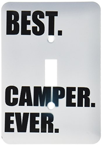 3dRose lsp_179763_1 Best Camper Ever Bold Text Fan Or Camp Hater Ironic Use Toggle Switch