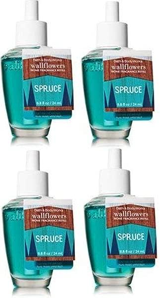 Bath And Body Works 4 Pack Spruce Wallflower Fragrance Refill 0 8 Oz