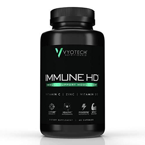 Vyotech Nutritionals Immune HD, Elderberry & Echinacea, Vitamin C, Vitamin D, Zinc, Calcium, Turmeric, Immune Suport Supplement