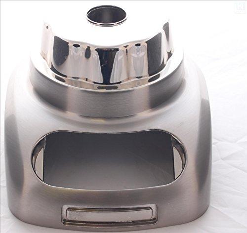 Bovenste behuizing van geborsteld nikkel (9709257) voor KitchenAid-staafmixer (modellen vanaf KSB555, 5KSB555)