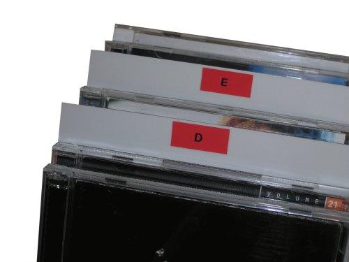 CD Registerwände weiß Protected (25 Stück)