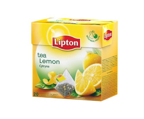 Lipton Aromatiserter Schwarztee Lemon Tea 20 Pyramiden Teebeutel