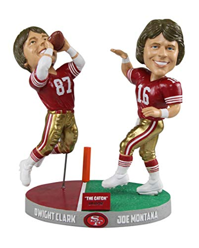 FOCO NFL Montana to Clark San Francisco 49ers The Catch - Only 1,982 Bobblehead