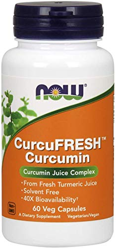NOW CurcuFresh Curcumin 4% 60 Veg Capsules, 20 g