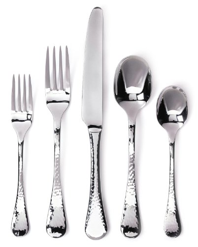 Ginkgo International Lafayette 42-Piece Stainless Steel Flatware Place Setting, Service for 8 Plus 2-Piece Hostess Set