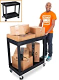 Stand Steady Original Tubstr 2 Shelf Utility Cart/Service Cart - Heavy Duty - Supports up ...
