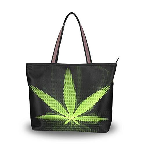 Eslifey Verschiedene Marihuana-Pflanzen Damen Tote Bag Handtaschen Schultertaschen für Damen Mädchen Gr. 42, multi