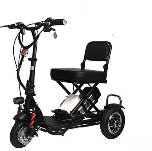 GYXZZ Recycling Elektro-Mini Falten, EIN Kleiner elektrischer Roller DREI Räder Adult Disability Alt Tragbare...