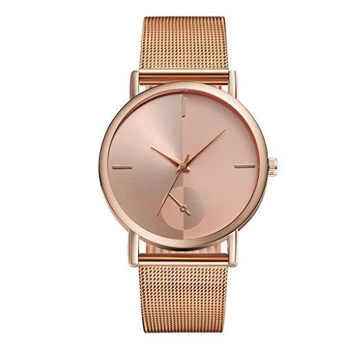 Förderung 2019 Damen Analog Armbanduhr Stahl Armband Quarz Casual Uhren mit Edelstahl Mesh Geschenk LEEDY
