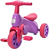 ChromeWheels Baby Balance Bike, Toddlers' Tricycle Walker with...