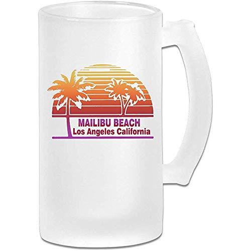 Malibu Beach Frosted Glass Stein Beer Mok, Pub Mok, Drank Mok, Cadeau voor Bier Drinker, 500Ml (16.9Oz)