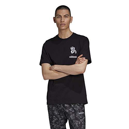 adidas Originals Camiseta Goofy para hombre - negro - Small