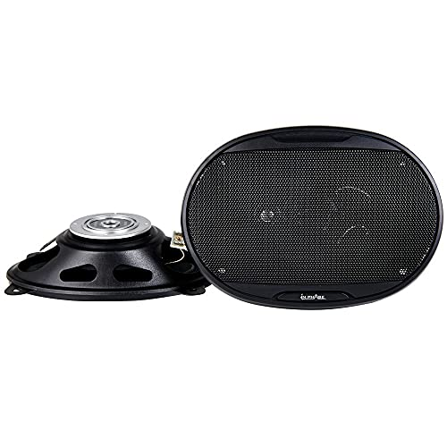 In Phase Car Audio SXT6435 6x4' 3-Way Coaxial Shallow Mount Speaker System,...