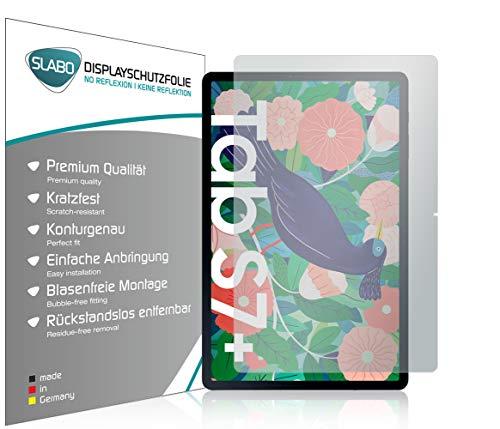 Slabo 2 x Bildschirmschutzfolie für Samsung Galaxy Tab S7+ | Galaxy Tab S7 Plus Bildschirmschutz Schutzfolie Folie No Reflexion | Keine Reflektion MATT
