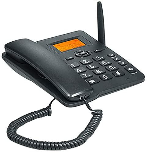 HJYUIK 4G WiFi Teléfono Fijo Inalámbrico, Tarjeta SIM gsm Teléfono De Escritorio LCD para Office Home Call Center Company Hotel (con 1000 MAH 3.7 Batería)