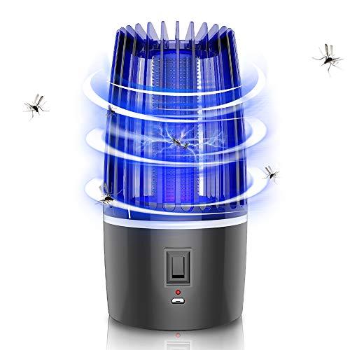 SYXZ USB Mosquito Killer Lampe, UV-Licht Insektizidlampe, LED Mute Strahlenlose Insektenvernichter Fliegen Fallenlampe,Schwarz