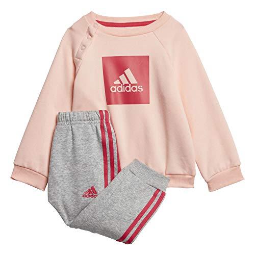 adidas Kinder 3-Streifen Logo Trainingsanzug, Hazcor/Powpnk, 62