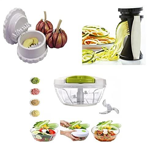 Triturador Alho, Cebola + Espiralizador Legumes + Brinde