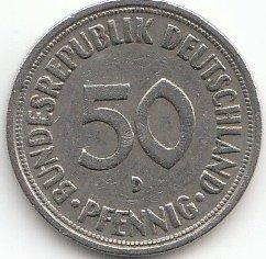Generic BRD (BR.Deutschland) Jägernr: 384 1970 J Sehr schön Kupfer-Nickel 1970 50 Pfennig (Münzen für Sammler)