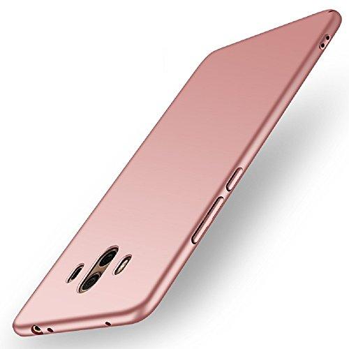Funda Huawei Mate 10, Apanphy Ultra Slim Hard Sedoso Scrub Shell Plena protección Trasera Piel Siento Cover para Huawei Mate 10 Oro Rosa