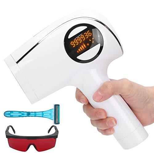 IPL Depiladora de Luz Pulsada,Sistema de depilación para mujeres y hombres,máquina de belleza, depilación indolora,Depiladora de Luz Pulsada de 990.000 flashes, con maquinilla de afeitar y gafas(EU)