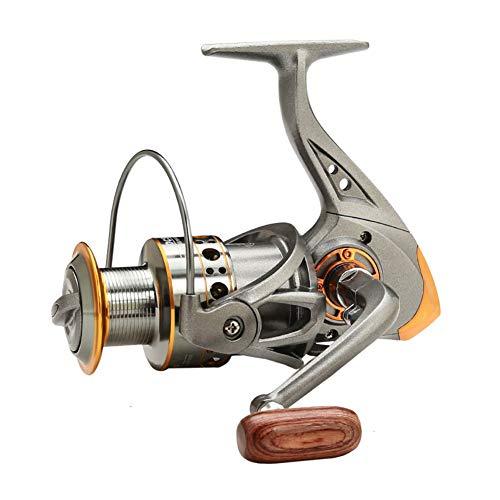 Eachbid Carretes de Pesca Giratorios, 5.2:1 Relación de Engranajes Peso Ligero Ultra Suave Potente, para Agua Salada o Agua Dulce DC4000