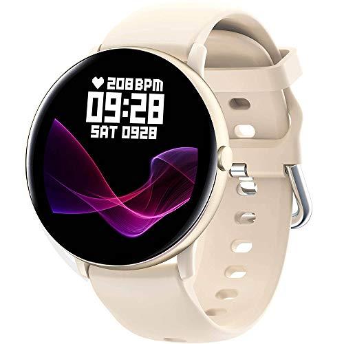 SGDD Smartwatch,Reloj Inteligente para Mujer con Termómetro,Monitor de Frecuencia Cardíaca,Pulsómetro,Recordatorio del Ciclo Fisiologico,Pulsera Actividad Inteligente para Android iOS (Dorado)