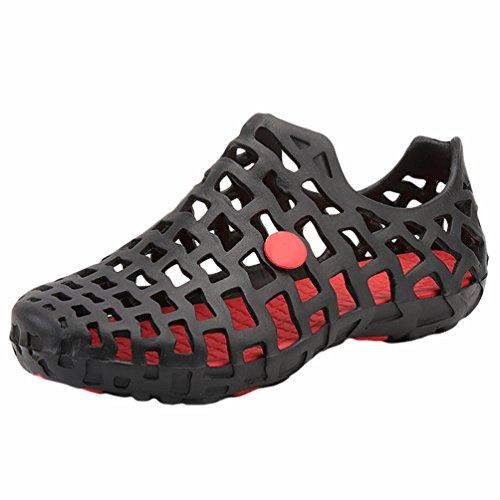 YiLianDa Zuecos Zapatillas Hombre Sandalias para el Tiempo Libre de Andar por Casa de Jardín Rojo 45