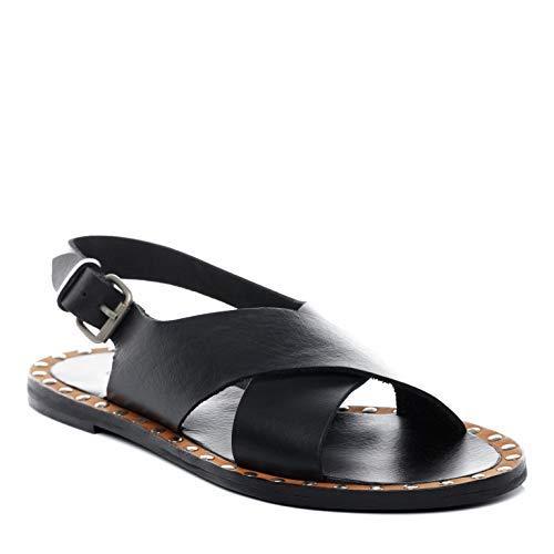 BACCINI Sandale Cuir Dana 37 EU Nu-Pieds Claquette Noir