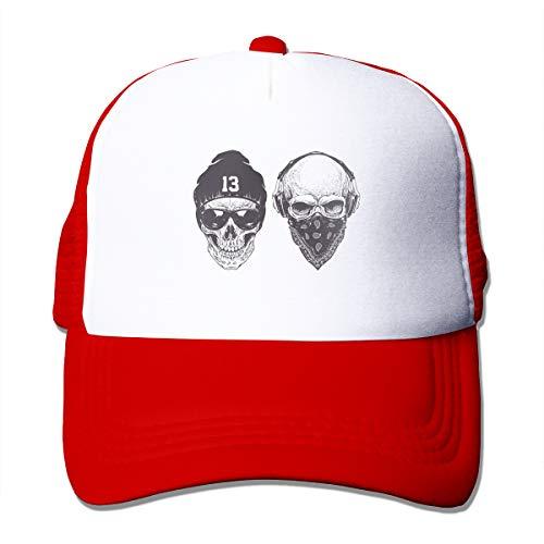 Wfispiy Skull Gangster Vector Rap Gangsta - Gorra deportiva ajustable unisex de alta calidad